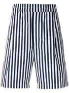 Sunnei Striped Shorts - Blue