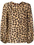 P.a.r.o.s.h. Leopard Print Blouse - Brown