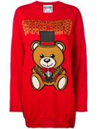 Moschino Teddy Bear Sweater Dress - Red