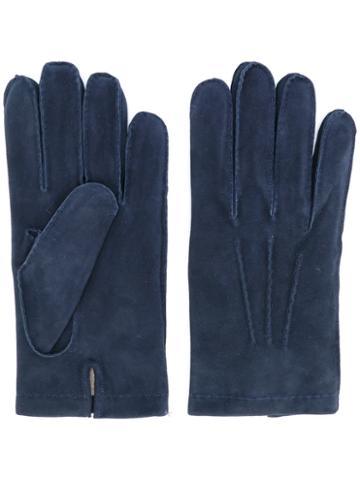 Eleventy - Plain Gloves - Men - Sheep Skin/shearling/cashmere/wool - L, Blue, Sheep Skin/shearling/cashmere/wool