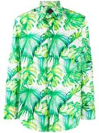 Billionaire Palm Leaf Shirt - White
