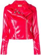 Liu Jo Cropped Biker Jacket - Red