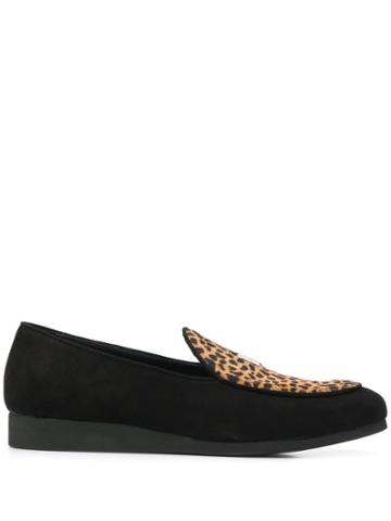 1017 Alyx 9sm Textured Animal Print Loafers - Black