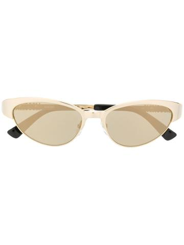 Moschino Eyewear Cat Eye Sunglasses - Gold