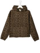 Les Coyotes De Paris Teen Leopard-print Hoodie - Brown