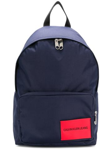 Calvin Klein Jeans Logo Patch Backpack - Blue