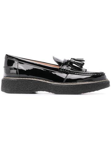 Tod's Tassel Platform Loafers - Black