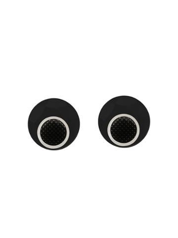 Rt By Tate Tateossian Circle Cufflinks - Black