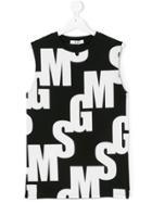 Msgm Kids Teen Logo Tank Top - Black