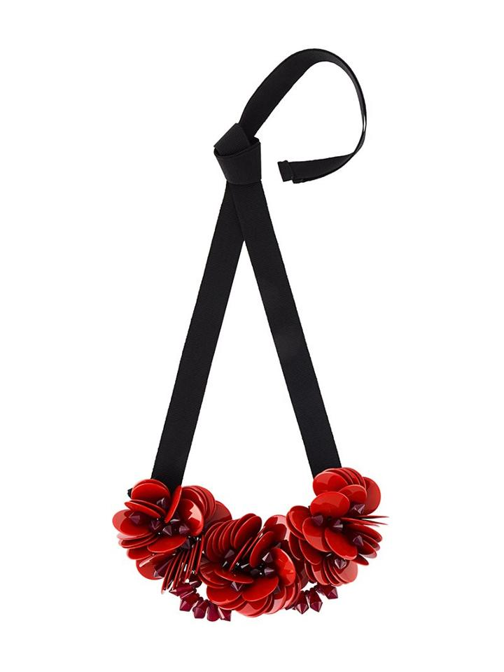 P.a.r.o.s.h. Floral Ribbon Necklace