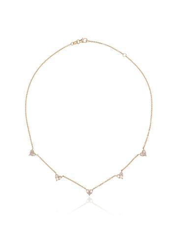 Shay 18k Yellow Gold Mini Heart Diamond Necklace - Metallic
