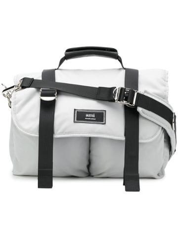 Ami Alexandre Mattiussi Mini Messenger Bag - Grey