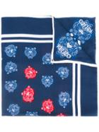 Kenzo Tiger Print Scarf, Women's, Blue, Silk/cotton