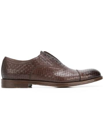 Doucal's Woven Oxfords - Brown