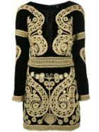 For Love And Lemons - Longsleeve Embroidered Dress - Women - Silk/rayon - Xs, Black, Silk/rayon