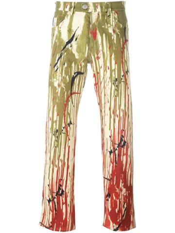 Jean Paul Gaultier Vintage Dripping Effect Jeans