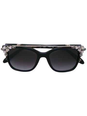 Carolina Herrera Embellished Sunglasses - Black