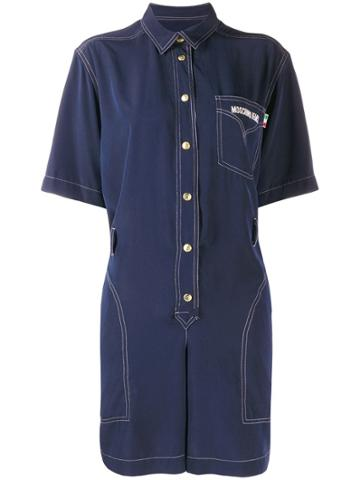Moschino Pre-owned Tuta Oversized Playsuit - Blue