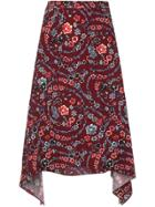 See By Chloé Floral Skirt - Red
