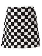Courrèges Checked Straight Skirt
