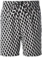 Otis Batterbee 'tile' Lounge Shorts, Men's, Size: Xl, Black, Cotton
