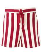 Red Valentino - Striped Shorts - Women - Silk/cotton - 42, Silk/cotton