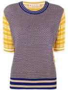 Marni Patterned Knit Top - Neutrals