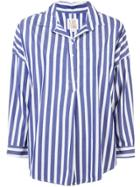 A Shirt Thing Casual Striped Shirt - Blue