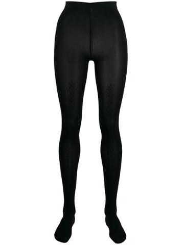 Wolford Shimmer-trim Tights - Black