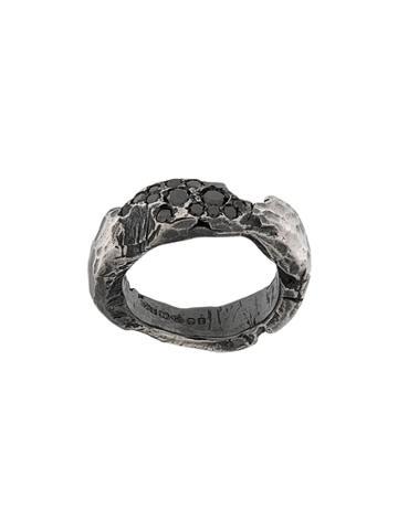 Chin Teo Diamond Love Band Ring - Metallic