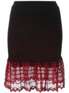 Alexander Mcqueen Knitted Peplum Skirt