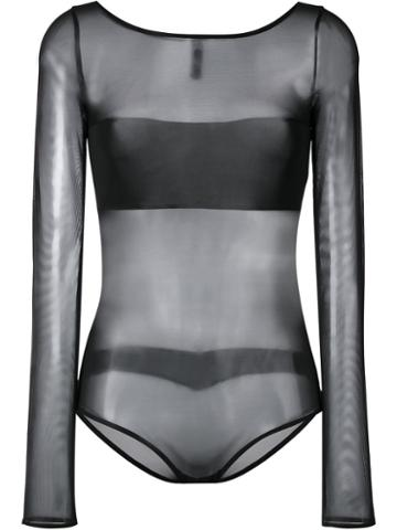 Maison Close - Pure Tentation Body - Women - Nylon/spandex/elastane - Xl, Black, Nylon/spandex/elastane
