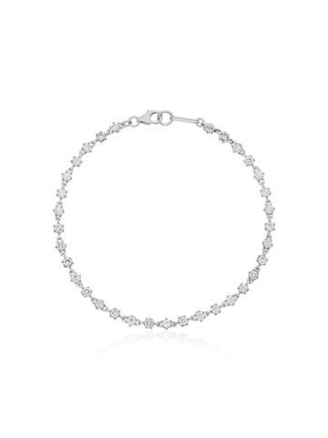 Jade Trau Penelope 18k White Gold And Diamond Tennis Bracelet -