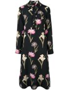 Rochas Floral Print Longsleeved Dress