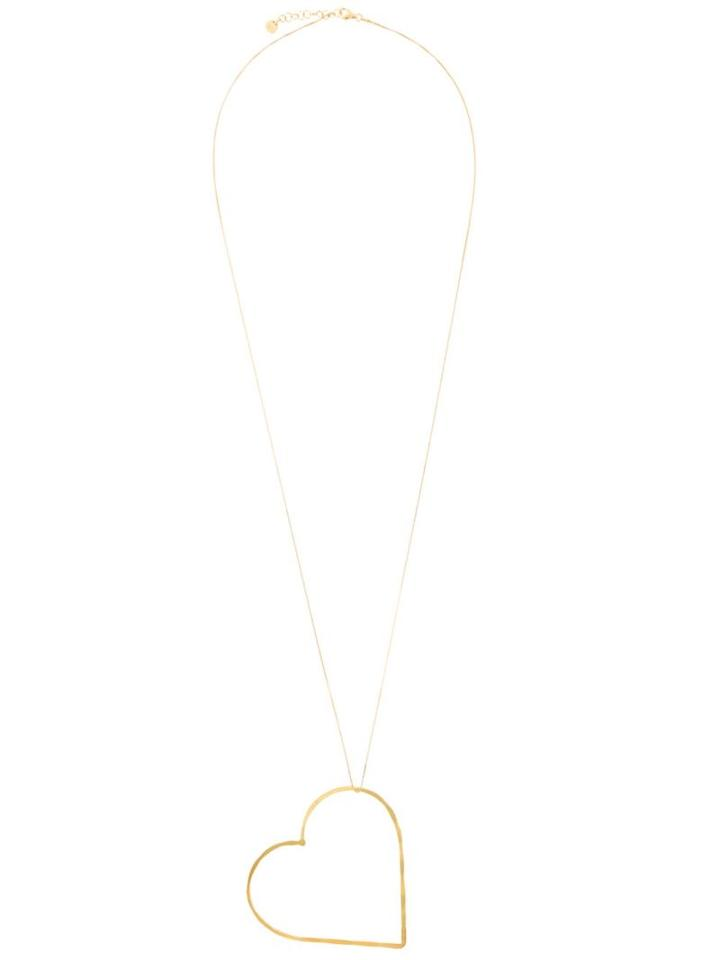 Seeme Big Heart Necklace, Women's, Metallic, Gold Plated Sterling Silver