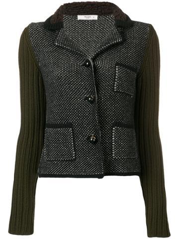 Prada Vintage 2000 Dotted Knit Jacket - Black