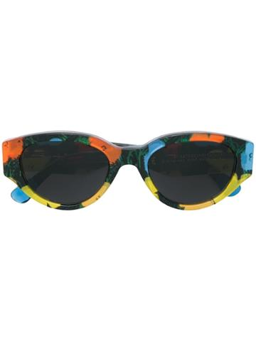 Retrosuperfuture Floral Print Sunglasses - Yellow