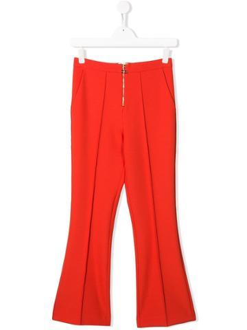 Elisabetta Franchi La Mia Bambina Piped Seam Trousers - Orange