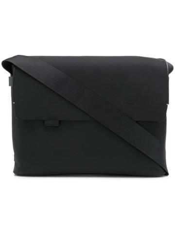 Troubadour Foldover Top Messenger Bag - Black