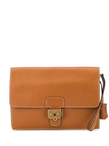Hermès Pre-owned Pochette Jet Clutch - Brown