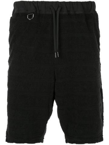 Roar Drawstring Waist Shorts - Black