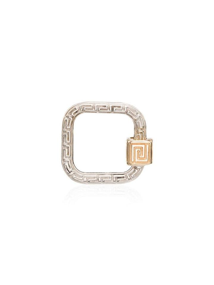 Marla Aaron White Gold Meander Lock Charm - Metallic
