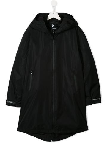 Marcelo Burlon County Of Milan Kids Hooded Coat - Black