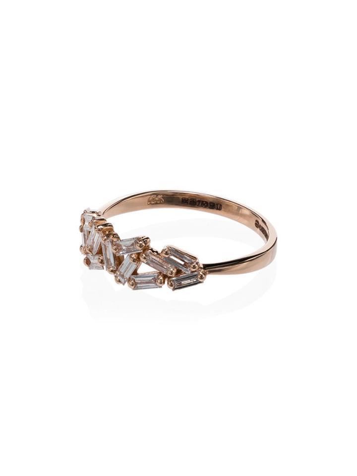 Suzanne Kalan Chevron Diamond Ring - Rose Gold