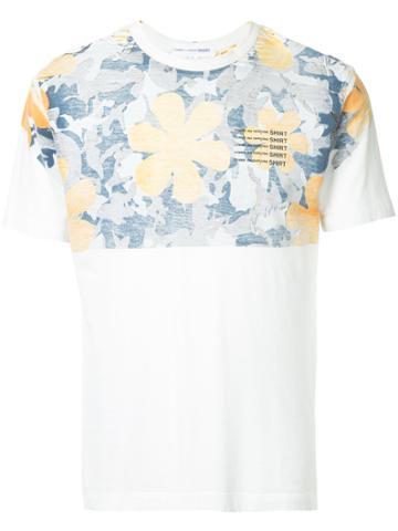Comme Des Garçons Vintage Watercolour Floral T-shirt - White