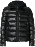 Fay Hooded Quilted Jacket - Black