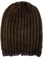 Avant Toi Cable-knit Beanie Hat - Green