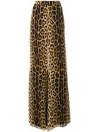 Moschino Leopard Print Flared Trousers - Brown