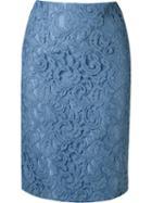 Martha Medeiros Lace Pencil Skirt