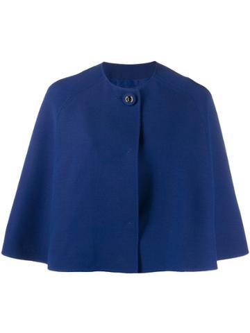 Emilio Pucci Single Button Cape Jacket - Blue